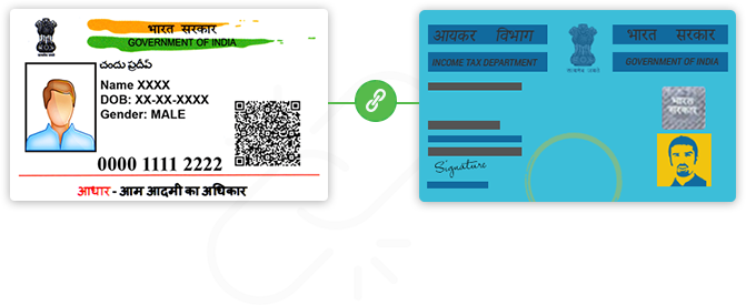 linking aadhaar card with pan card
