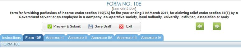 Form 10E - Annexures