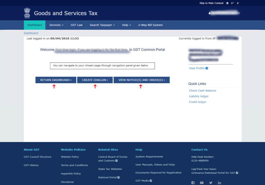 GST portal login