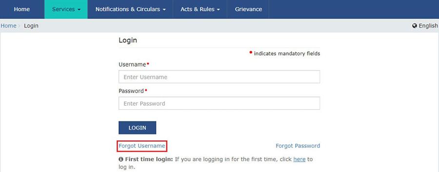 Retrieve the Username under GST