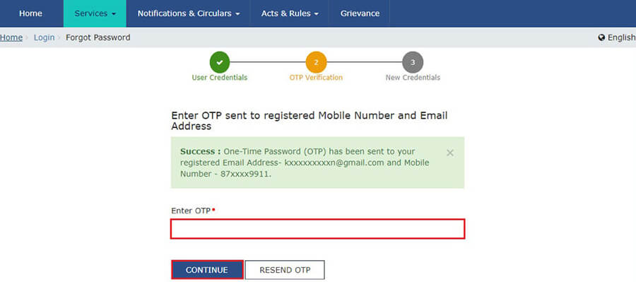 How to Retrieve GST Password