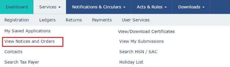 How to view and download any notice and demand orders