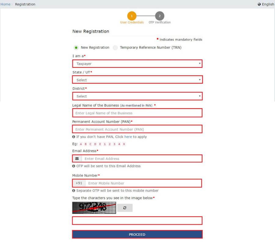 GST New Registration