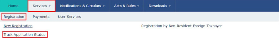Track Registration Application Status- GST