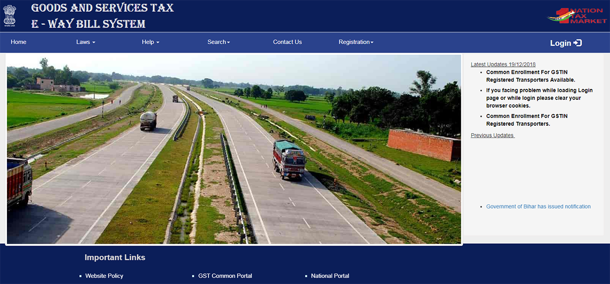 e-way bill webportal