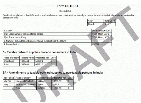 GSTR-5A Form