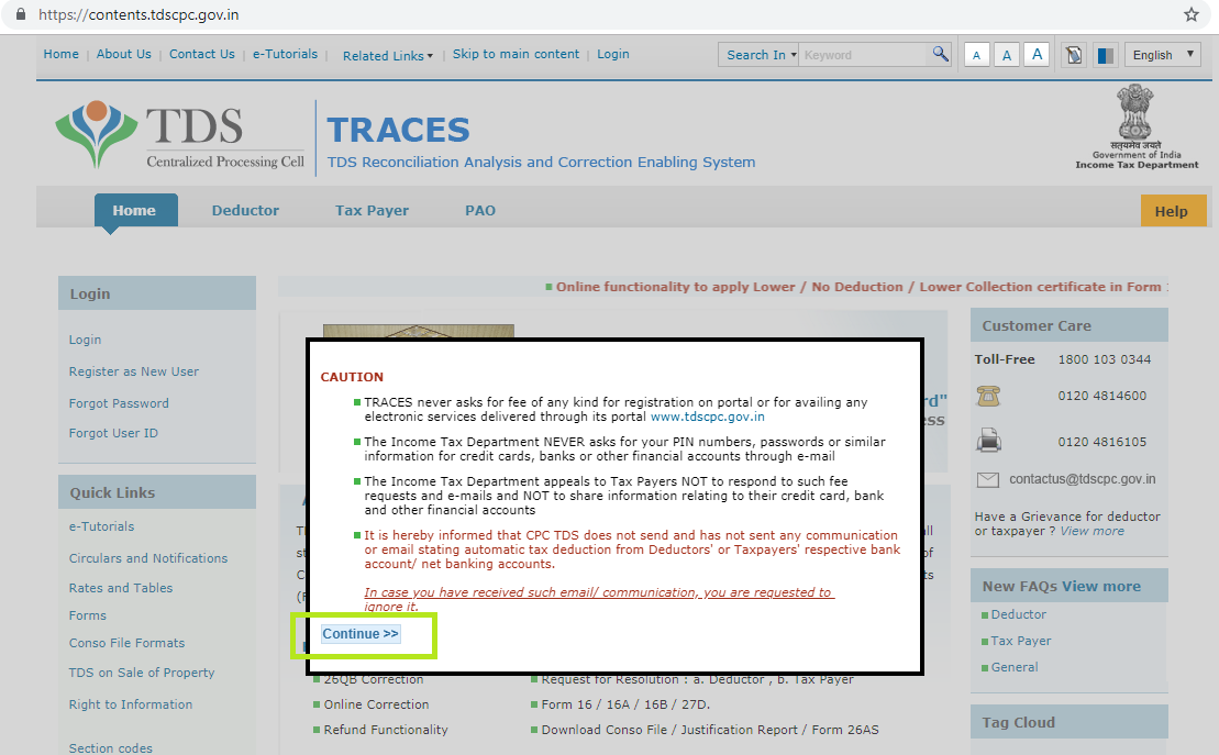 TRACES - How to Access & Login on TDS Website? - Tax2win