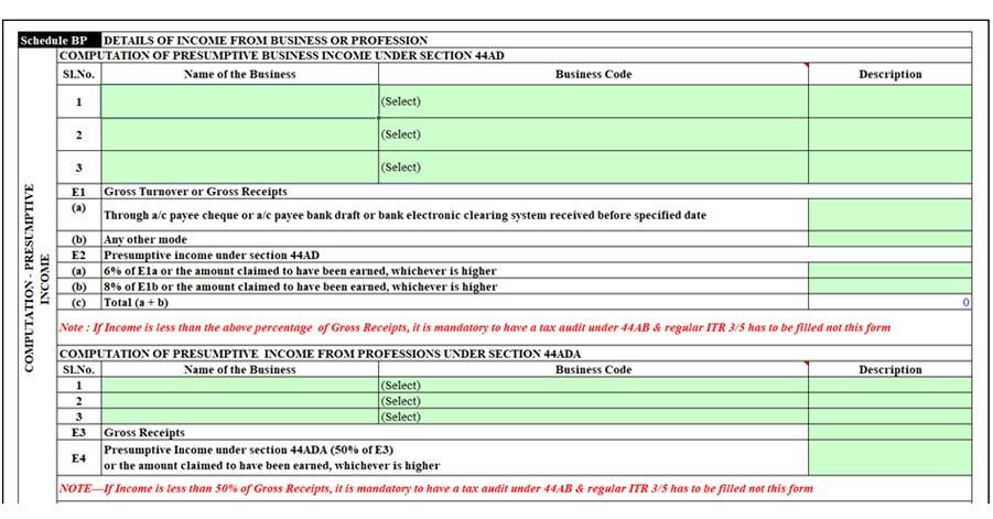 Schedule BP
