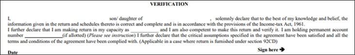 ITR - Verification